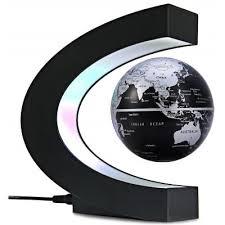 Decorative Magnets For Sale C Shape Magnetic Levitation Floating Globe World Map With Led