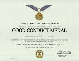 army good conduct medal certificate template army certificate of