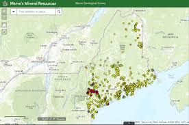 map of maine interactive map of mineral resources in maine american