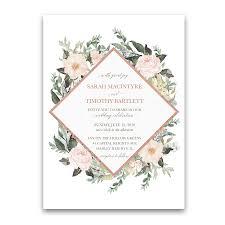 floral wedding invitations geometric wedding invitations blush floral greenery