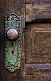 Vintage Interior Door Hardware Beautiful Colors And Textures Look At The Verdigris On The Door