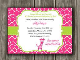 s shower invitations pink and green giraffe baby shower invitation printable