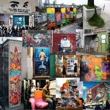 murals wall art stencils sticker art wheat pasted poster are some of the many different forms of street art