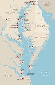 Virginia Map With Cities Destinations Chesapeake Bay Region Cities And Towns