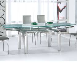 dining room furniture glass top round dining table sparkling