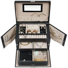 Jewelry Armoire With Lock And Key Best Choice Products Leather Jewelry Box And Jewelry Organizer