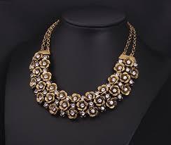 antique necklace pendants images New design brand vintage ethnic multilayer flower choker necklaces jpg