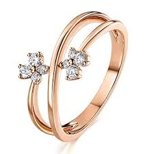 gold rings women images Aienid 18k engagement rings for women rose gold rings jpg