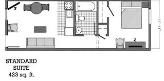 Hotel Suite Floor Plan Standard Suite Floor Plan