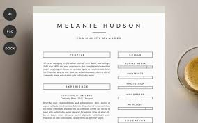 Two Page Resume Template The Best Cv U0026 Resume Templates 50 Examples Design Shack