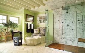 green wall paint glass shower cabin partition walls without frame