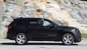 jeep grand cherokee modified jeep grand cherokee trackhawk filmed up close in detroit