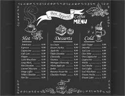 22 chalkboard menu templates u2013 free sample example format