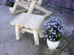 Best White Rustic Cedar Log Furniture Images On Pinterest - Patio furniture made in usa