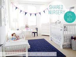 Shared Bedroom Ideas by Boy And Shared Nursery Blue Pink U003d Happy Shared Rooms