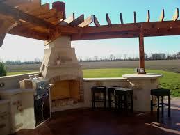 bryan ohio outdoor fireplace bbq sit wall bar pergola patio kirk