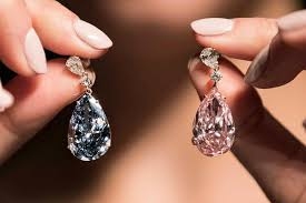 diamond earrings on sale a pair of diamond earrings sell for 57 4 million at auction