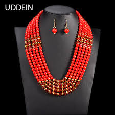 african beads necklace images Uddein amazing african beads jewelry set chain women nigerian jpg