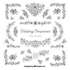 vintage wedding ornaments vector free