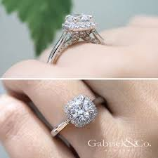 gabriel and co engagement rings cypress 14k white gold halo engagement ring er12672r4w44jj