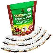 amazon com heirloom vegetable seeds non gmo survival seed kit