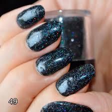 aliexpress com buy black holographic glitter powder dust nail
