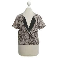 snake print blouse bcbg max azria silk blouse with snake print buy second