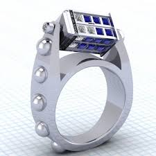 epic wedding band a tardis ring for your whovian epic geekdom