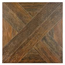 shop style selections dargento brown wood look ceramic floor tile