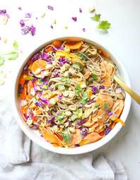 soba noodle salad with peanut dressing this savory vegan