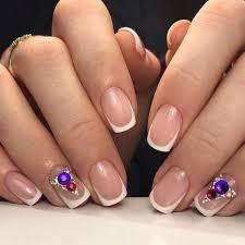 winter french nails the best images bestartnails com