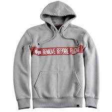 alpha industries remove before flight hoody