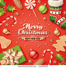 christmas decorations card stock vector 318382031 shutterstock