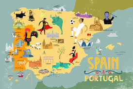 Portugal World Map by Mapped Spain U0026 Portugal
