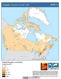 canadian map population distribution maps population density grid v3 sedac