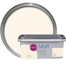 Matte White Bedroom Colours Antique White Matt Emulsion Paint 2 5l Departments Diy