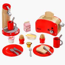 spielküche zubehör holz spielküchen zubehör frühstücksset rot aus holz howa spielwaren