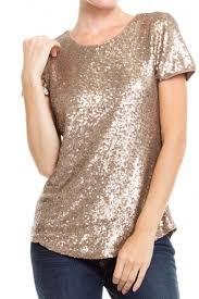 tops sequin gold