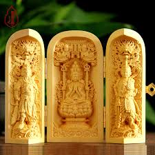 engraving artwork boxwood carvings pieces ornaments carry