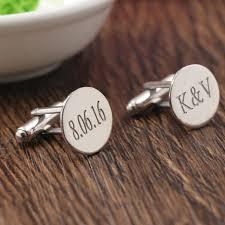 engraved wedding gift groom wedding gift silver men cufflinks engraved momogramed