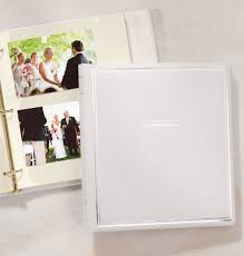 personalized albums ultimate wedding personalized leather 3 ring photo album exposures