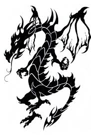 3d dragon tatoo black and white dragon tattoos free download clip art free