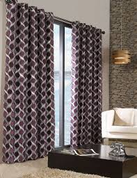 Purple Curtains Stylish Trendy Ringtop Eyelet Lined Circle Pattern Curtains