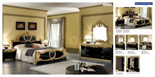 Bedroom Furniture Stores Nyc by Barocco Panel Bed In Black Gold 1 474 00 Furniture Store