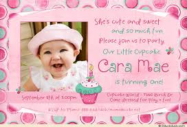 invitation for 1st birthday party wording choice image