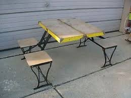 Milwaukee Chair Company Vintage Milwaukee Stamping Company Handy Folding Table And Chair
