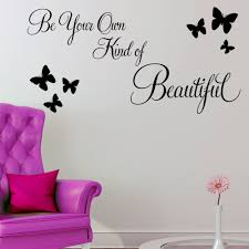 wall quote stickers roselawnlutheran be your own kind of beautiful wall sticker quote decals