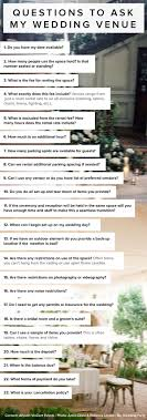 wedding venue questions 23 questions to ask my wedding venue by allyson vinzant events