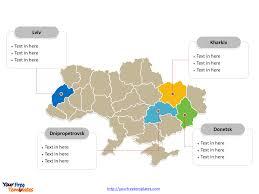 Map Ukraine Free Ukraine Editable Map Free Powerpoint Templates