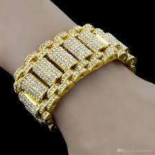 bracelet diamond men images 2018 hip hop rock style simulate diamond iced out bracelets jpg